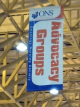 ONS Congress 2012 Booth section sign