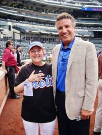 Susan O'Donnell with former NY Mets pitcher Bob Ojeda