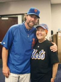 Susan O'Donnell with NY Mets pitcher R.A. Dickey