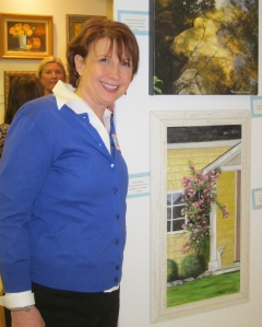 Michele Russell at MSKCC Art Show 2013